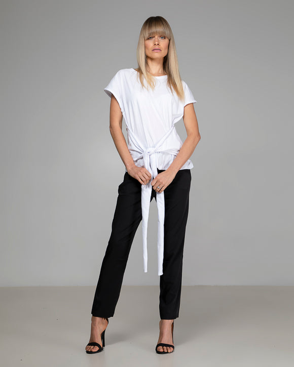 ORGANIC COTTON TIE TOP WHITE
