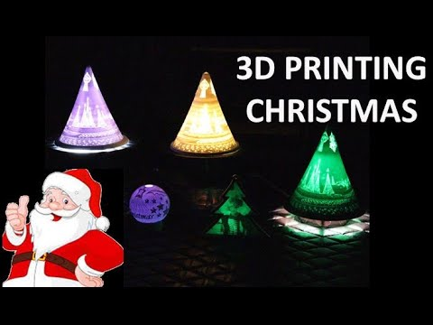 3D Printed Christmas Lithophane Gifts and Decorations