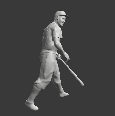 3D model of Jackie Robinson based on a painting