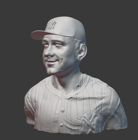 3D model of Lou Gehrig based on a painting