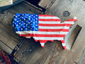 American Flag.  GreenGate3D.  Recycled.  Filament.