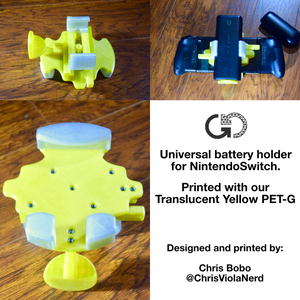 Translucent Yellow: Recycled PET-G