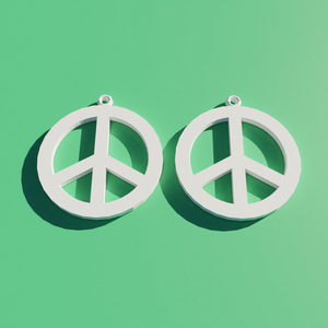 Peace Earrings STL