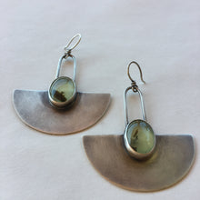Desert Queen Earrings-Prehnite