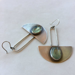 Celestial Earrings with Prehnite