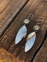 Small Prehnite Leaf Earrings