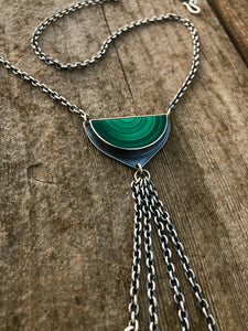 Malachite Tassel Necklace