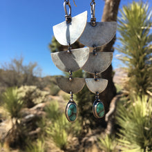 Large Nomad Earrings with Variscite