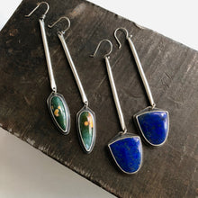 Sticks and Stones Earrings with Lapis
