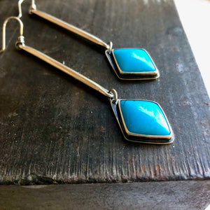 Sticks and Stones Earrings-Turquoise