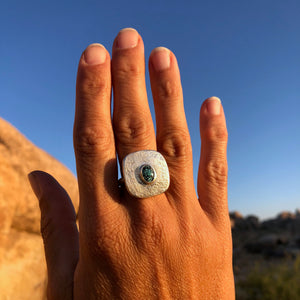 Turquoise Tablet Ring