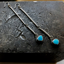 Sticks and Stones Earrings, Mis-matched Turquoise