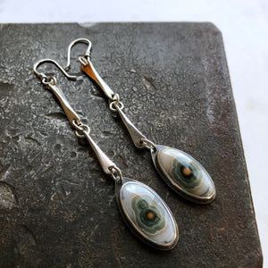 Link Earrings-Ocean Jasper