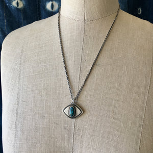 Inner Vision Evil Eye Necklace with Turquoise