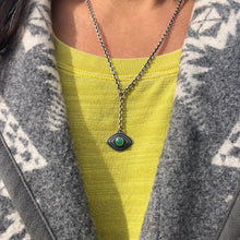 Inner Vision Lariat Necklace Chrysoprase