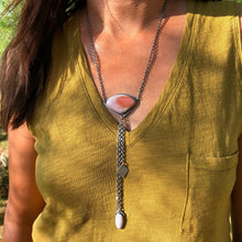 Coyamito Agate Lariat Necklace