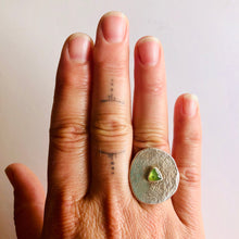 Vesuvianite Medallion Ring