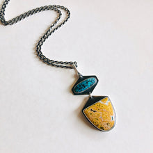 Ocean Jasper and Turquoise Token Necklace