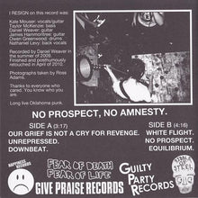 Load image into Gallery viewer, I RESIGN no prospect no amnesty 7""