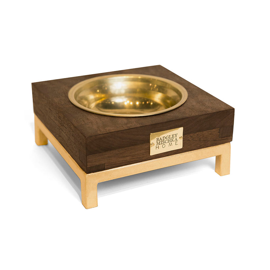ROMMEL SMALL PET BOWL (GOLD)