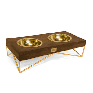 NOVA SMALL-DOUBLE PET BOWL (GOLD)