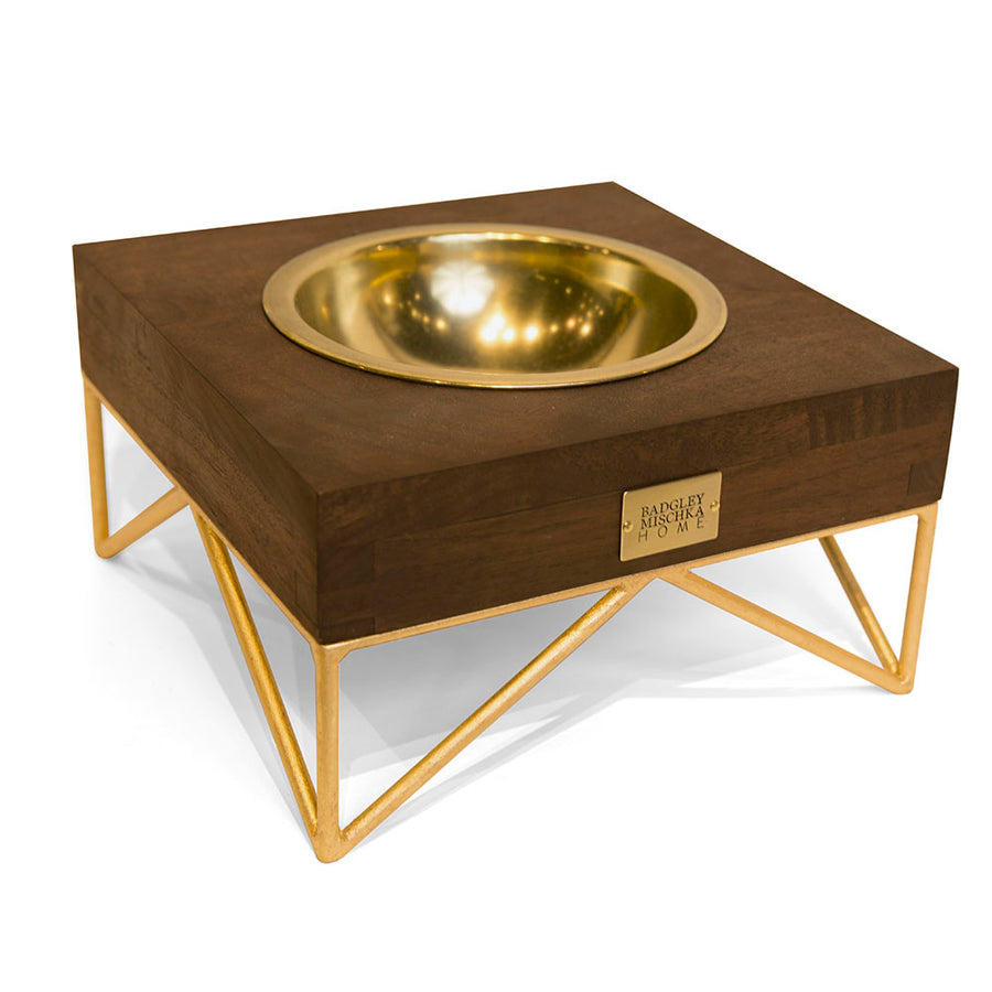 NOVA MEDIUM PET BOWL (GOLD)
