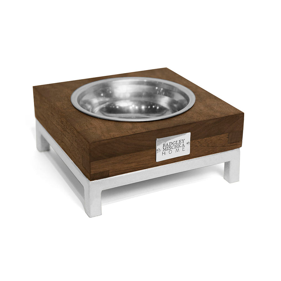 ROMMEL SMALL PET BOWL (SILVER)