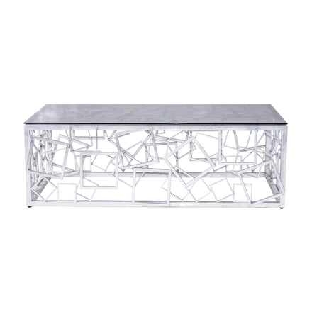MONTEREY COCKTAIL TABLE (SILVER) - Badgley Mischka Home