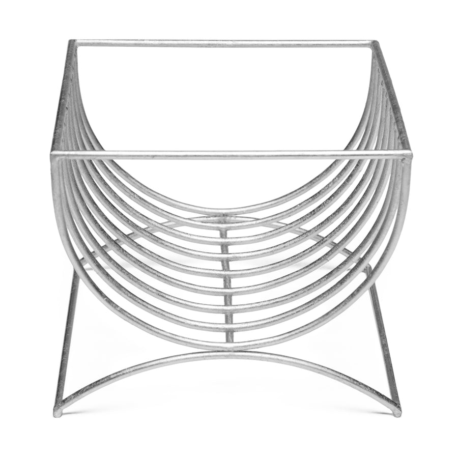 BACALL MAGAZINE RACK (SILVER) - Badgley Mischka Home