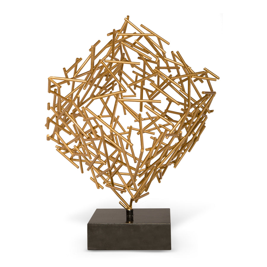 CAGNEY SCULPTURE (GOLD) - Badgley Mischka Home