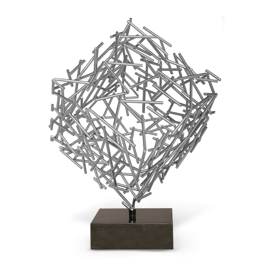 CAGNEY SCULPTURE (SILVER) - Badgley Mischka Home