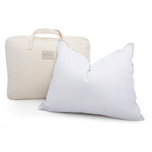 WHITE GOOSE DOWN PILLOW - QUEEN