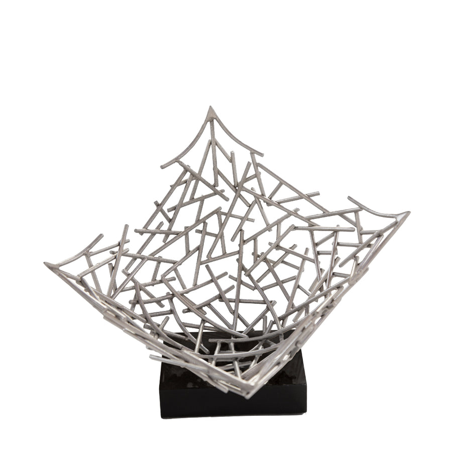 GRANT SCULPTURE (SILVER) - Badgley Mischka Home