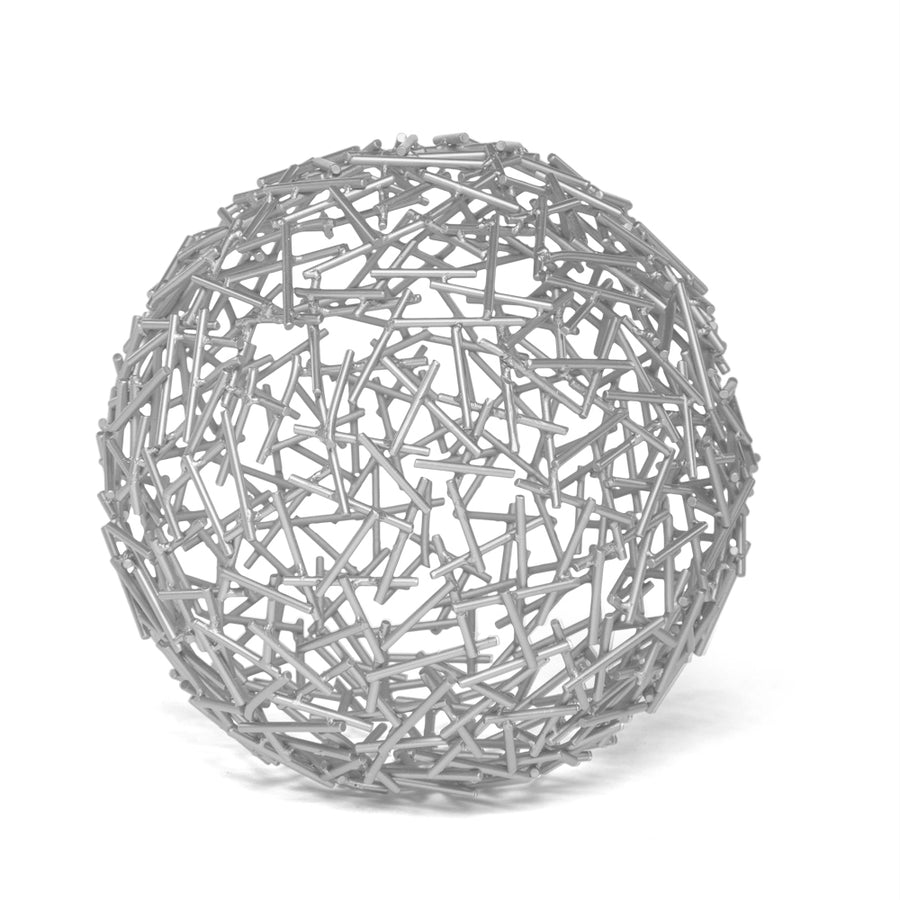 HUMPHREY SPHERE SCULPTURE (SILVER) - Badgley Mischka Home