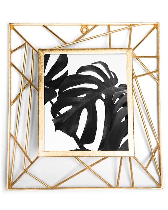 KELLY PHOTO FRAME 4X6 (GOLD) - Badgley Mischka Home