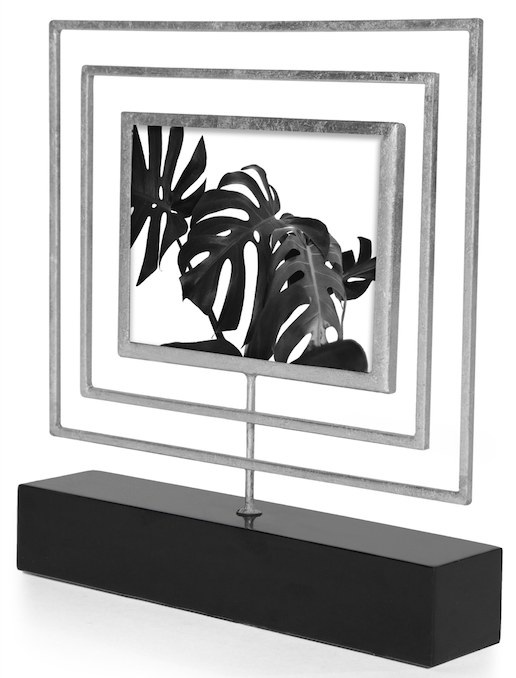 LUCILLE PHOTO FRAME 8X10 (SILVER) - Badgley Mischka Home
