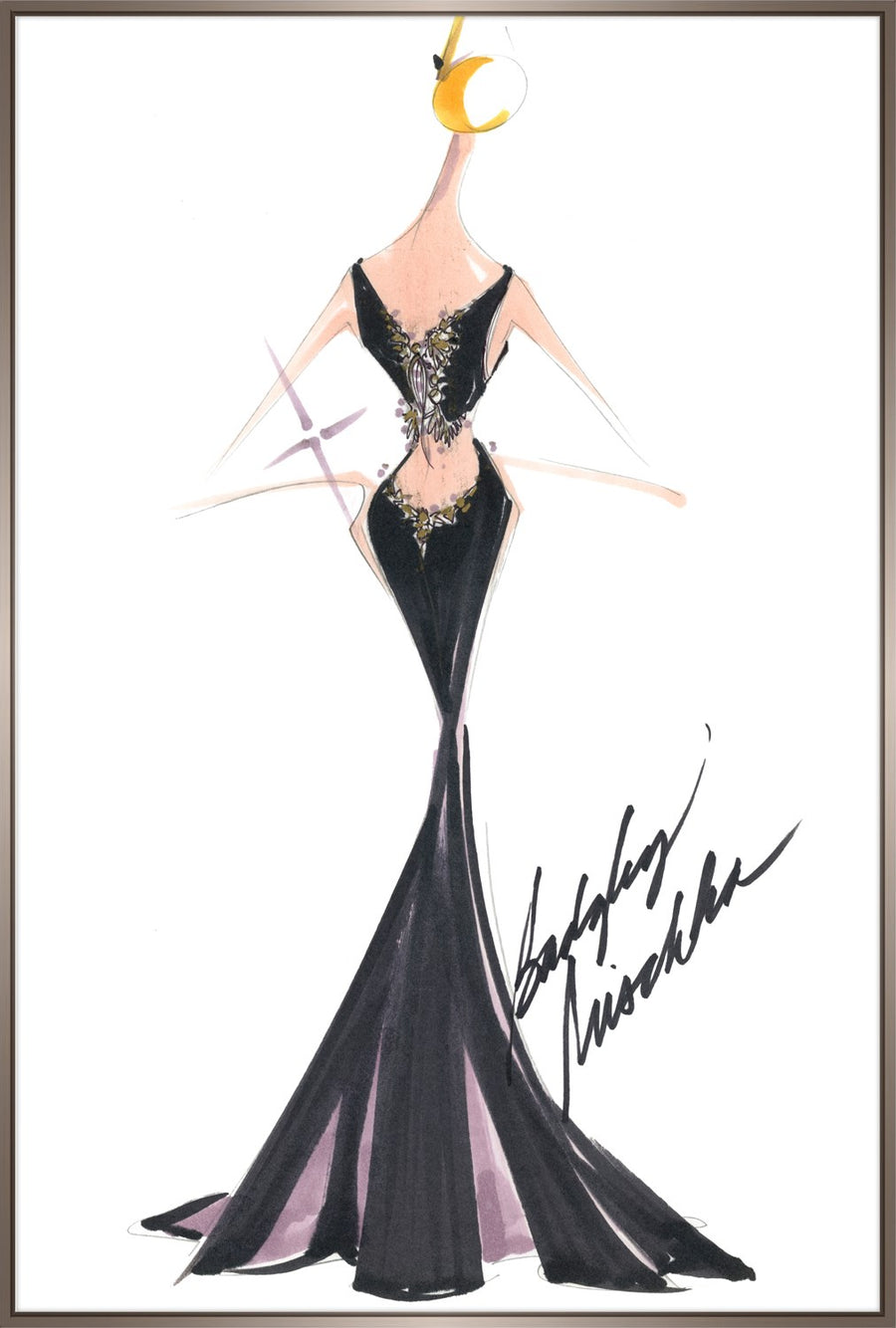 BACK IN BLACK GOWN - LARGE - Badgley Mischka Home