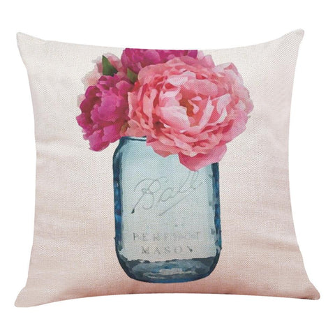 Spring Mason Jar Pillow
