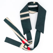 Load image into Gallery viewer, Vilnius // Black Ikat // Vintage Kimono Neckwear