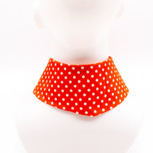 Load image into Gallery viewer, Vilnius Spring // Orange Dots // Jaana Moona Neckwear