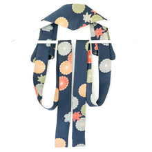 Load image into Gallery viewer, Sydney // Flowers on Blue // Vintage Kimono Neckwear