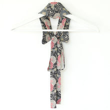 Load image into Gallery viewer, Sydney // Flowers on Grey // Vintage Kimono Neckwear