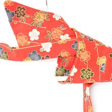 Load image into Gallery viewer, Sydney // Orange Flower // Vintage Kimono Neckwear