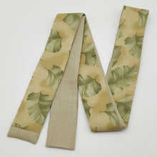 Load image into Gallery viewer, Skibotn // Green Leaves // Skinny Scarf