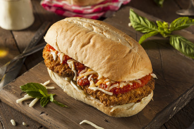 Vegan Chicken Parmesan Sandwich from Fork My Life