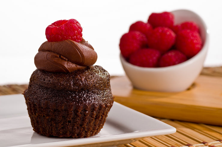 Vegan Dark Chocolate Raspberry Cupcake by Fork My Life
