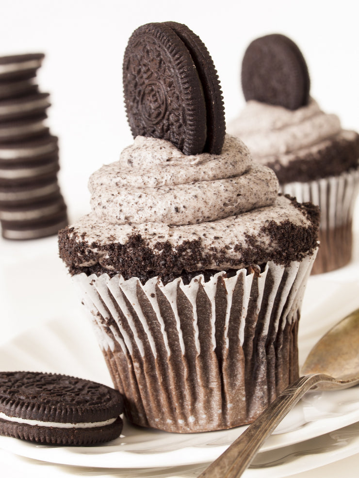 Vegan Cookies and Cream Cupcake by Fork My Life
