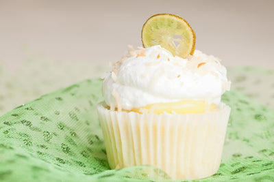 Vegan Key Lime Coconut Cupcake by Fork My Life