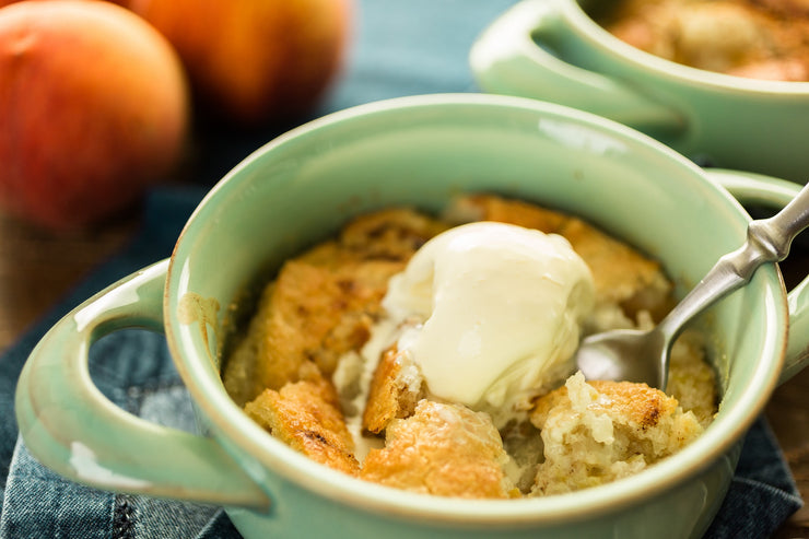Vegan Peach Cobbler by Fork My Life