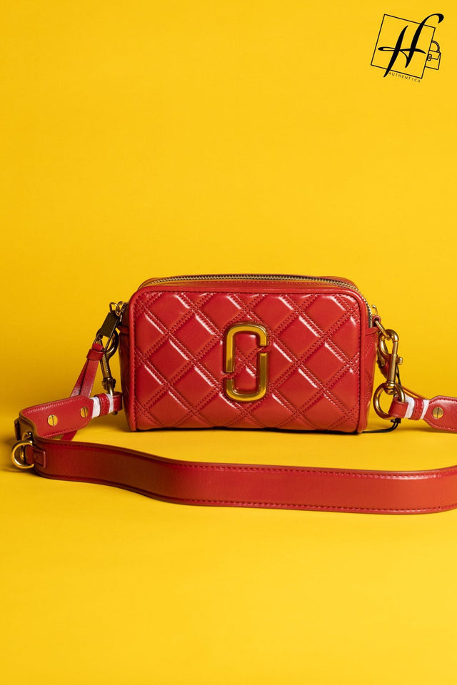 Marc Jacobs Softshot 21 Quilted Leather Crossbody Bag